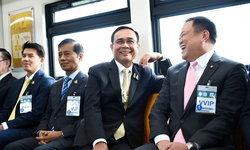 นายกฯ เปิดรถไฟฟ้าบีทีเอส 4 สถานีใหม่ ชาวเน็ตตาดีแอบส่องหมายเลขรถ