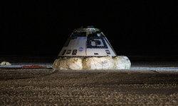 """แคปซูลอวกาศของ """"โบอิ้ง"""" กลับสู่พื้นโลกอย่างปลอดภัย"""