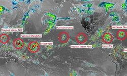 นักวิชาการยังประหลาดใจ เกิดพายุหมุนเรียงรายบนโลกพร้อมกันถึง 10 ลูก