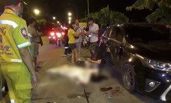 เหยื่อคนเมา หนุ่มเปิดประตูขึ้นรถ โดนเก๋งชนเปรี้ยง คนขับกลิ่นเหล้าหึ่ง