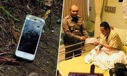 """""""จ่าสิบตำรวจ"""" ดวลปืนกับขาใหญ่นาเกลือ ได้ไอโฟนช่วยชีวิต กระสุนไม่ทะลุร่าง"""
