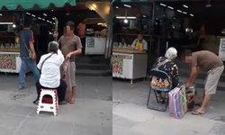วิจารณ์ยับ หนุ่มไล่ลุงวณิพกตาบอด ก่อนให้แม่ตัวเองมานั่งขอทานแทน