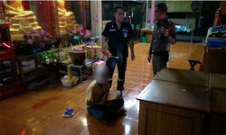 หนีไม่รอด! พระ-ผู้ช่วยผู้ใหญ่บ้าน ล้อมจับโจรแสบขโมยเงินบริจาควัด