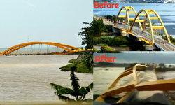 พังพินาศ! สะพานโปนูเลเล แลนด์มาร์คสำคัญของเมือง ถูกทำลายหลังแผ่นดินไหว
