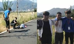 ป้องกันไว้ก่อน สามหนุ่มจีนควักมือถืออัดคลิป ก่อนช่วยคนแก่เป็นลมล้มข้างทาง