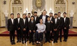 13 หมูป่าเข้าเยี่ยมคารวะประธานาธิบดี-รองประธานาธิบดีอาร์เจนตินา
