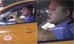"""ผิดเวลา! หนุ่มขับแท็กซี่ """"มาส์กหน้า"""" เสริมหล่อ โดนตำรวจสั่งพักงาน 3 วันเต็ม"""