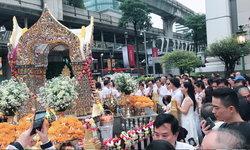 วันเกิดพระพรหมเอราวัณ ชาวไทย-ต่างชาติแห่ขอพรแน่นขนัด