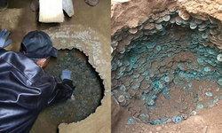 มีเป็นแสน คนงานก่อสร้างขุดพบเหรียญโบราณสมัยราชวงศ์ซ่ง คาดเป็นของธนาคาร