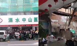 โรงพยาบาลจีนระทึก ฟ้าเพดานถล่ม ขณะเด็กนักเรียนตรวจร่างกาย เจ็บหลายราย