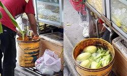 สะพรึง! เคล็ดลับความอร่อยผลไม้รถเข็น ใช้น้ำแข็งตู้แช่-ล้างในถังดำปี๋