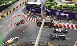 """นักแข่งสาว """"F3"""" ซิ่งหลุดโค้ง เหินพุ่งอัดกำแพงสุดสยอง รอดตายปาฏิหาริย์"""