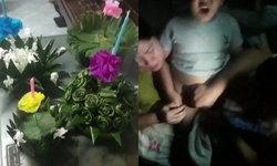 เด็กชายวัย 5 ขวบ อดลอยกระทง ร้องลั่นบ้าน! รูดซิปกางเกงติดหนอนน้อย