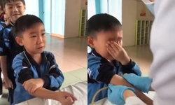 เพราะผมเป็นหัวหน้าห้อง...เด็กชายเจาะเลือด กลัวแทบตายแต่ไม่กล้าร้องไห้ (มีคลิป)
