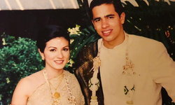 """""""โม้นา ราโมน่า"""" อวดภาพแต่งงานเมื่อ 14 ปีก่อน บ่าวสาวสวยหล่อในชุดไทย"""