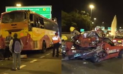 สนั่นฮ่องกง รถบัสชนกับแท็กซี่ ผู้โดยสารกระเด็นออกจากรถ ดับ 5 เจ็บอีกอื้อ