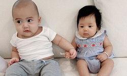 """น่ารักมาก """"น้องเจ้าคุณ"""" จูจุ๊บ """"น้องปาลิน"""" เคมีเข้ากันเป็นคู่จิ้นวัยกระเตาะ (คลิป)"""
