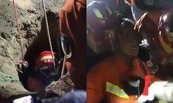 กราบหัวใจ กู้ภัยจีนหย่อนตัวเองลงบ่อลึก 45 เมตร ช่วยหนึ่งชีวิตให้รอด