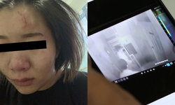 สาวผวาแชร์วงจรปิด นาทีแฟนหนุ่มพังห้องมาบุกซ้อม ร่างบอบช้ำ-ต้องซ่อนตัว