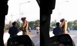 ทำตามหน้าที่! ดาบตำรวจแจงดราม่ารีดเงินนักเรียนขี่จยย. ซัดคนถ่ายคลิปบิดเบือน