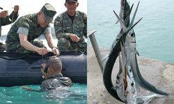 """โซเชียลโยง """"ปลาเต็กเล้ง"""" แทงทหารตาย เพราะ """"บิ๊กเขียว"""" มอบสร้อยกลางทะเล"""