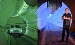 """""""อีลอน มัสก์"""" เปิดตัวอุโมงค์ใต้ดินแก้รถติด ทำความเร็วสูงสุด 241  กม./ชม."""