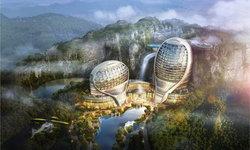 """อลังการอีกแล้ว จีนสร้าง """"โรงแรมรังผึ้ง"""" กลางเหมืองเก่าถูกทิ้งร้าง"""