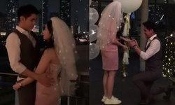"""""""ซัน พิชยดนย์"""" จัดเต็ม จุดพลุขอแฟนสาวแต่งงานสุดโรแมนติก"""