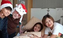 """""""นิโคล เทริโอ"""" ลงภาพฉลองคริสต์มาสที่โรงพยาบาล"""
