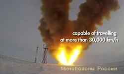 """รัสเซียคุยโว """"ขีปนาวุธเร็วเหนือเสียงรุ่นใหม่"""" ทำความเร็วได้เกิน 30,000 กม./ชม."""