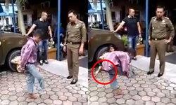 """อภินิหารตำรวจไทย! เสกเด็กให้ """"ขางอก"""" หลังจับได้แกล้งพิการมาขอทาน หลอกคนสายบุญ"""