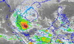 """กรมอุตุฯ ประกาศเตือนเตรียมพร้อม """"พายุปาบึก"""" พัดขึ้นชายฝั่งอ่าวไทยวันนี้"""