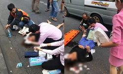 เผยคลิปนาทีตึกถล่มย่านรามฯ วิน จยย.-หมอ-พนักงานคลินิกความงาม ช่วยคนเจ็บไม่กลัวตาย