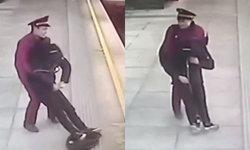 ชายเมาหลับคาชานชาลารถไฟใต้ดิน พนักงานกลัวหนาวตาย ทั้งอุ้มทั้งลากเข้าด้านใน