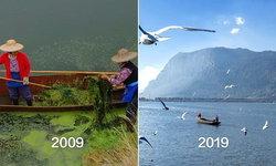 """""""ทะเลสาบคุนหมิง"""" พลิกโฉมทอประกาย หลังเจอปัญหามลภาวะนาน 30 ปี"""