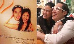 """ภาพที่ไม่เคยเห็น """"เจ-ปิ่น"""" ครบรอบแต่งงาน 18 ปี ความหวานไม่จางหาย"""