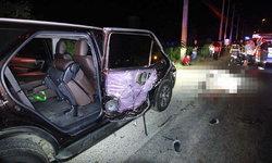 ฟอร์จูนเนอร์แวะฉี่ข้างทาง เจอรถเทรลเลอร์ชนดับสยอง 2 ศพ ต่อหน้าครอบครัว