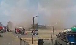 พายุลมหมุนสุดสะพรึง ซัดตลาดนัดดังเมืองนางรอง ปลิวไปต่อหน้าต่อตา (มีคลิป)