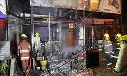 ไฟไหม้วอดร้านน้ำมันขวด เจ้าของสงสัยเป็นวางเพลิงจากอดีตเพื่อนบ้าน
