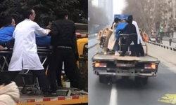 รถบรรทุกเล็กแปลงร่าง บึ่งพาผู้ป่วยหาหมอ หลังรถพยาบาลชนกับแท็กซี่พลิกคว่ำ