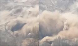 ภาพสุดสะพรึง ดินถล่มครั้งใหญ่ในกานซู่ ภูเขากว่าครึ่งลูกสไลด์ลงด้านล่าง