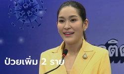 ศบค. แถลงไทยมีผู้ติดเชื้อโควิด-19 เพิ่ม 2 ราย รวมป่วยสะสม 3,197 ราย