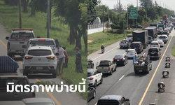 หยุดยาวต้องทำใจ! รถสะสมเต็มถนนมิตรภาพ เคลื่อนตัวช้า แถมเกิดอุบัติเหตุหลายจุด
