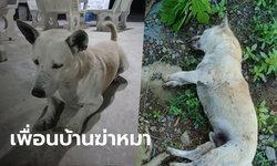 เจ้าของตามหาสุนัขหาย พบซากถูกฝังในสวนเพื่อนบ้าน อ้างกัดรองเท้าเลยฆ่าตาย