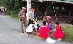 ผงะ พบศพชายพิการถูกทิ้งข้างถนน คาดลูกสาวติดยาลงมือฆ่าพ่อตัวเอง