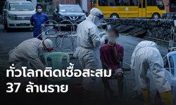 พม่าป่วยโควิด-19 วันเดียว 1.4 พัน ทั่วโลกป่วยสะสม  37 ล้านราย