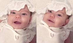 """""""น้องเอมมิลี่"""" ลูกสาวซาร่า คาซิงกินี นอนตาแป๋ว ส่งยิ้มหวาน หน้าเหมือนคุณแม่เป๊ะ (คลิป)"""