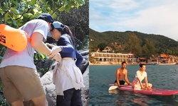 """ทริปเกาะเต่า """"เวียร์-เบลล่า"""" หวานหนักมาก  จับมือกันแน่นดูแลกันทุกย่างก้าวเลยทีเดียว"""