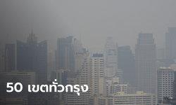 บ้านใครกันบ้าง? ค่าฝุ่น PM2.5 ใน กทม. เกินค่ามาตรฐาน 50 เขต