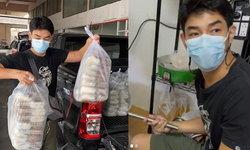 """""""อาร์ต พศุตม์"""" ลงมือเป็นพ่อครัว ทำอาหารแจกแรงงานพม่าที่ต้องกักตัวหลังโควิด-19 ทำพิษ"""
